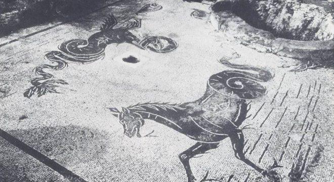 Ambienti zona termale Villa Archeologia Mondragone
