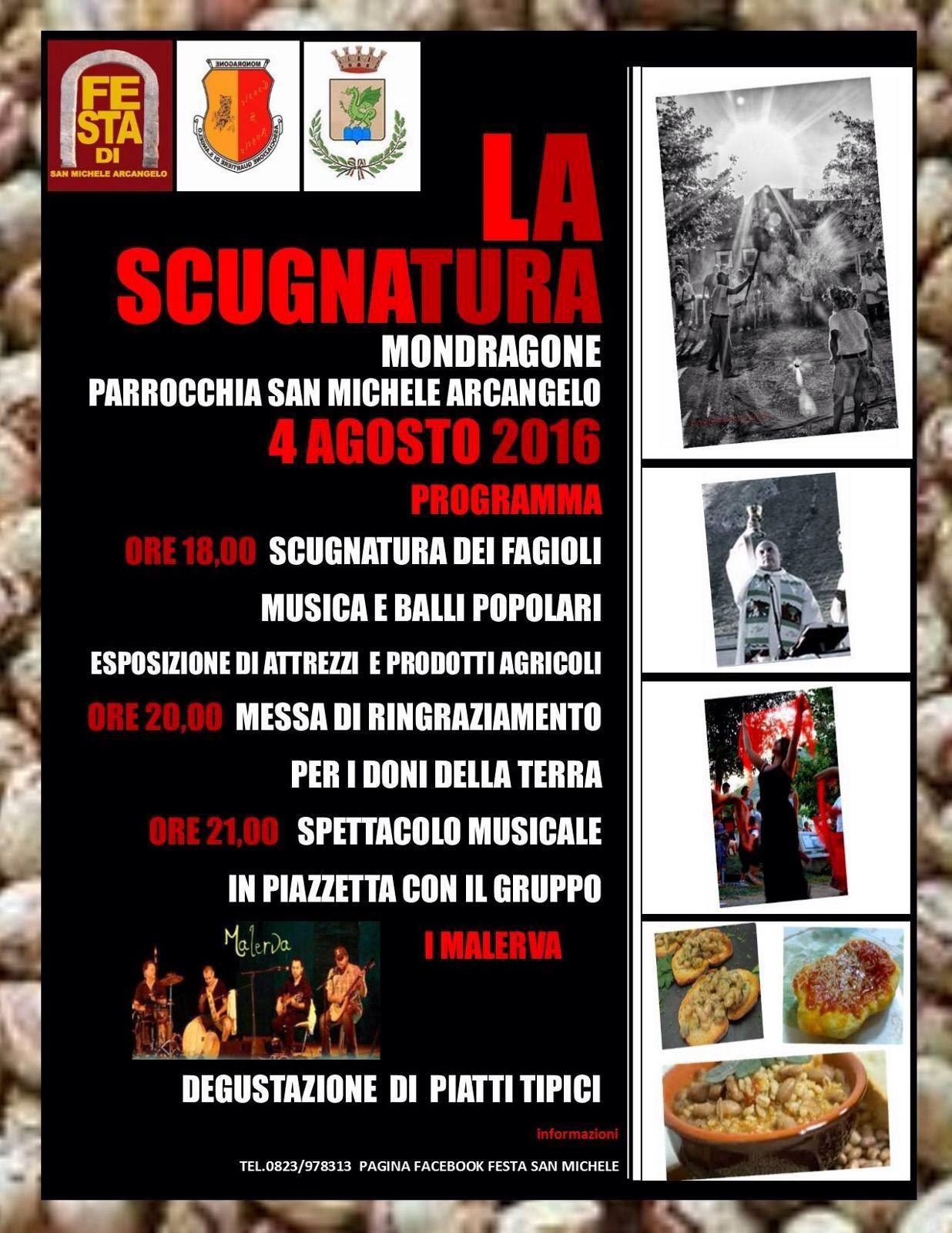 """4 Agosto 2016 """"La Scugnatura"""" – Parrocchia San Michele Arcangelo – Mondragone"""